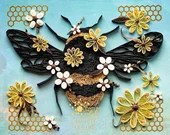 Quilled Bumble Bee | Ready-to-Ship