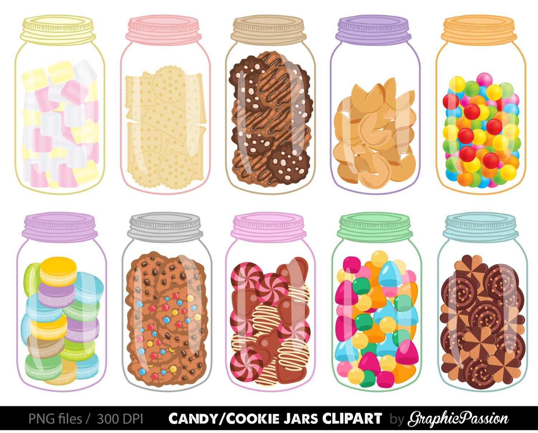 Sweet Jars Digital Clipart Cookie Jar Clipart Candy Jar