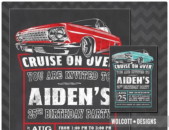 impala birthday invitation 1963 impala