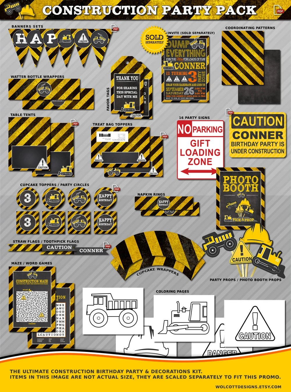 Construction Birthday Construction Party Printables Construction Birthday Decorations Construction Party Decorations Dump Truck Party