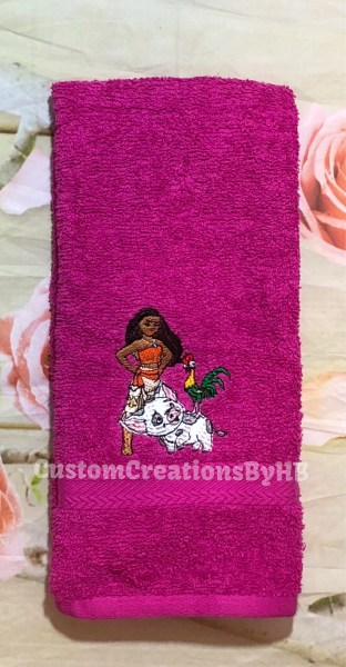 Moana Inspired Towel Set Moana Bathroom Towels Moana   Etsy Moana Inspired Towel Set Moana Bathroom Towels Moana Personalized Towels  Moana Beach Towels