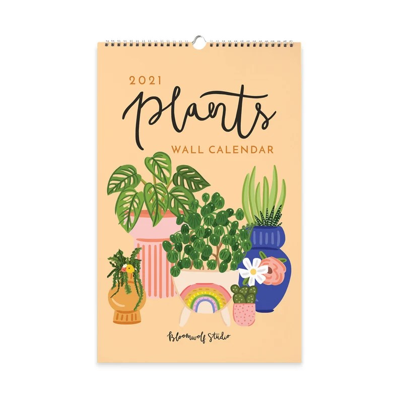 2021 Plants Monthly Calendar Illustrated Wall Calendar Plant image 0