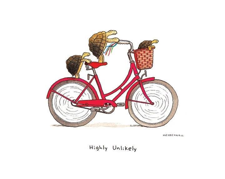Fahrrad Rundes Gesicht Comic Cartoon Lustig Fahren Sport Bike