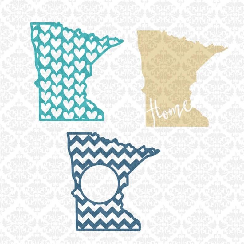 Download Minnesota Home Monogram Outline Chevron Hearts Love SVG ...