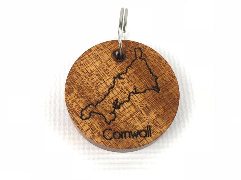 Cornwall Map Keyring - Ha...