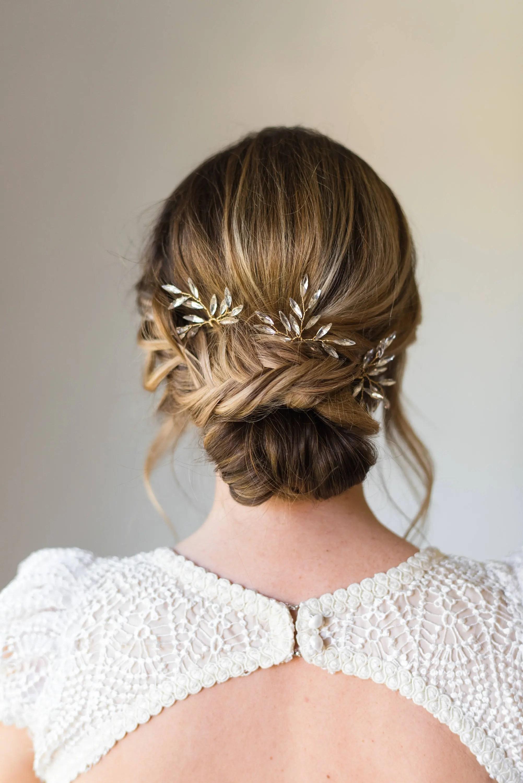 branch hair pins bridal hair pins crystal hair pins wedding hair pins wedding headpiece branch hair pins bridal headpiece 161