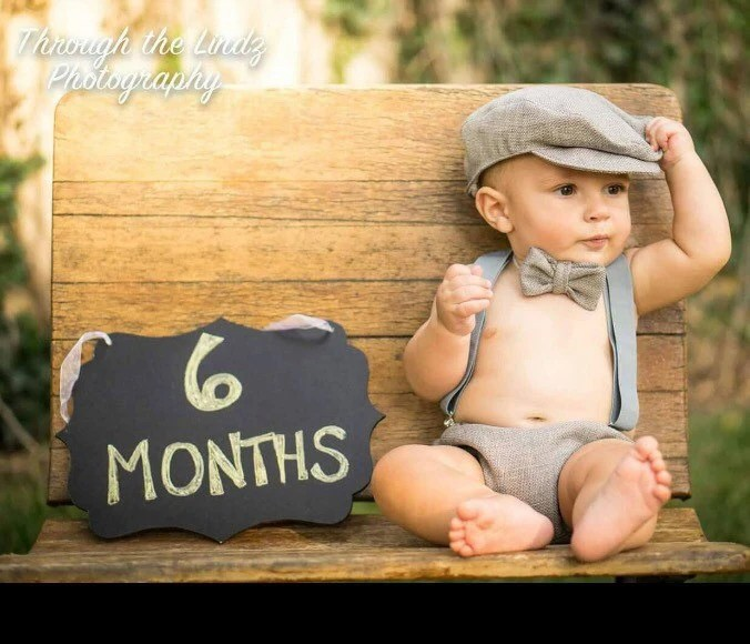 Grey 6 Month Baby Boy Birthday Outfit Etsy