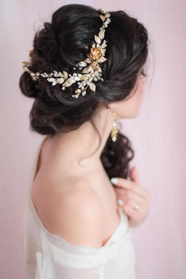 floral wedding headpiece bridal hair piece bridal head piece decorative hair adornment large decorative flower statement headpiece