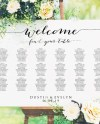 Welcome Wedding Seating Chart Template In Four Sizes 16x20 Etsy