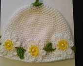 Handmade Adorable Daisy Hat