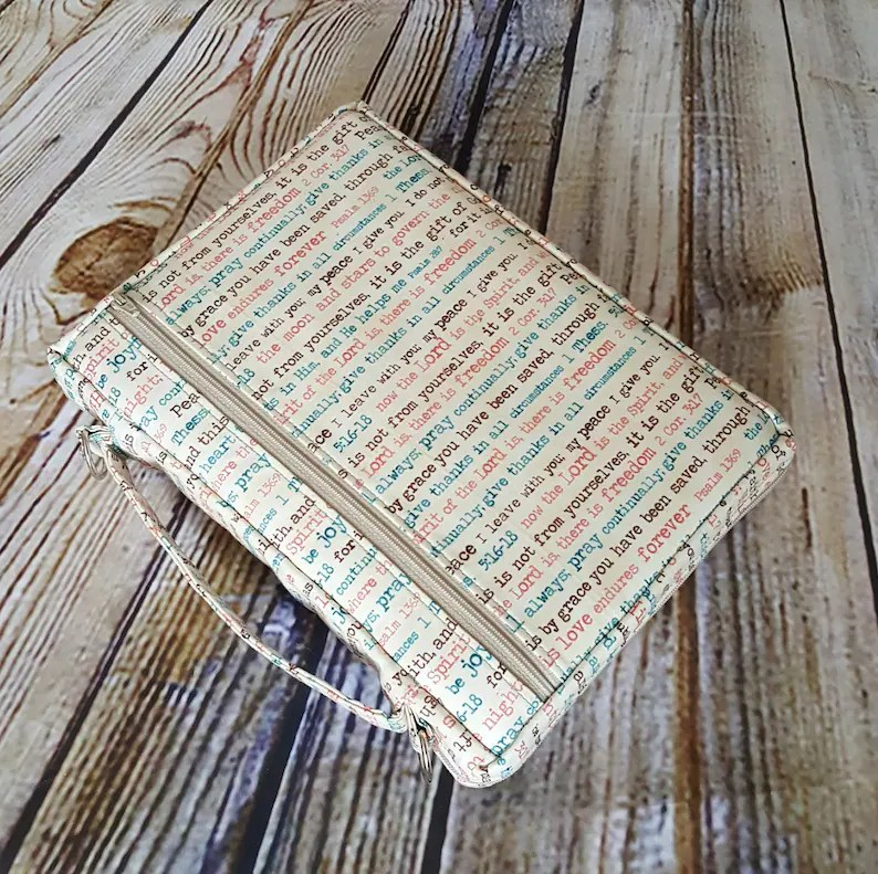 Zippered Bible Cover Sewing Pattern Diy Etsy