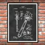 1915 Crescent Wrench Patent Print Poster Mechanics Decor Carpenter Decor Mechanic Gift Idea Auto Repair Shop Decor