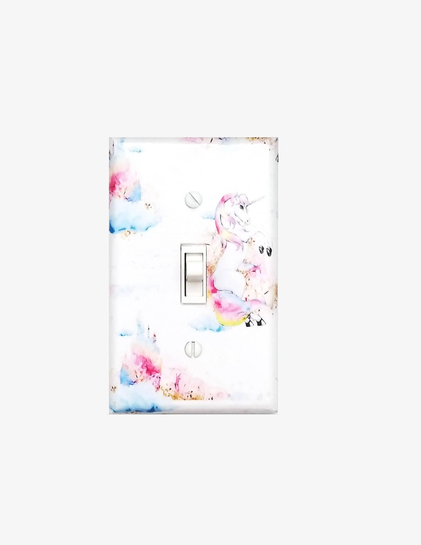 Unicorn Light Switch Cover Girls Bedroom Pastel Nursery
