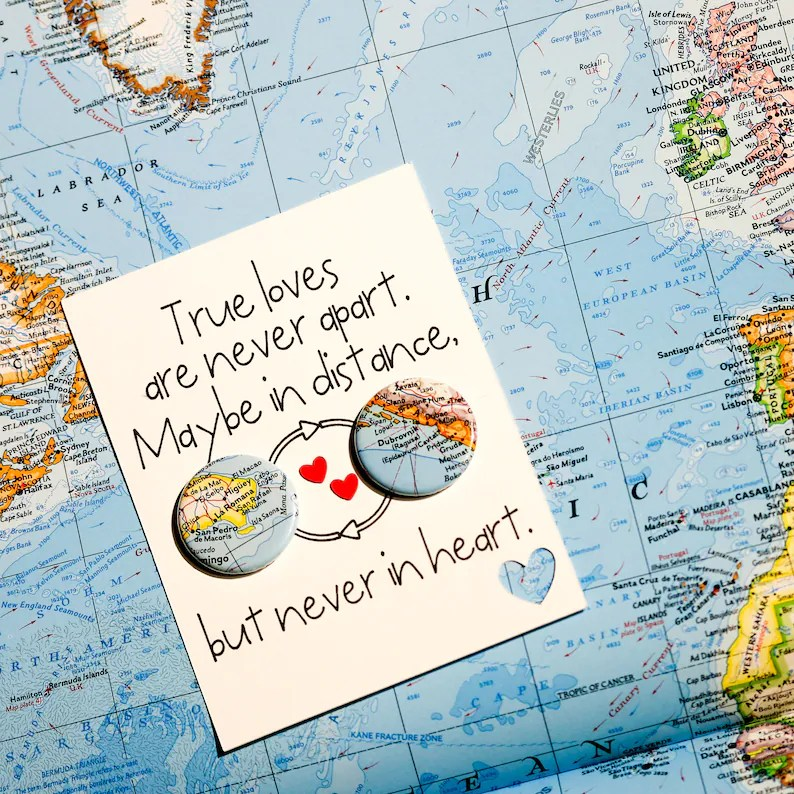 Personalized Long Distance Relationship Card: Pick your cities image 0