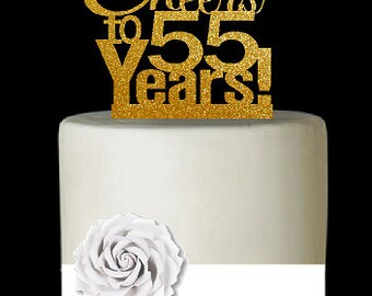 55th Birthday Cake Etsy