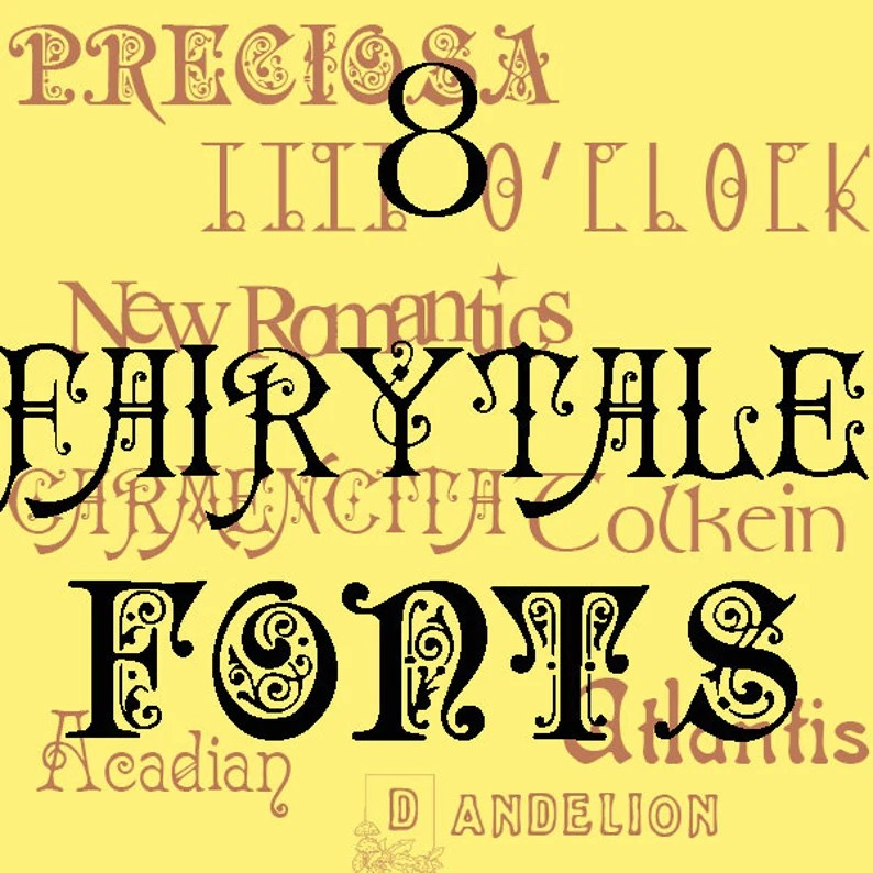 Download Fairytale Font Pack 8 Fantasy TrueType Fonts For Personal ...