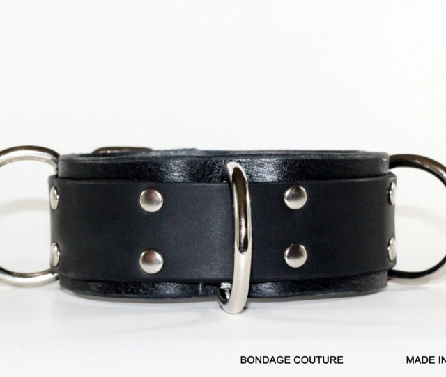 Submissive Restraint Leather Bdsm Collar  Ring Slave Collar Leather Bondage Collar Fetish Leather Slave Collar Submissive Collar