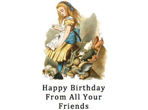 Happy Birthday Greeting Note Card Happy Birthday From All Etsy