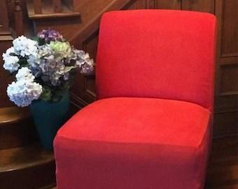 housse suedine beige extensible chaise housse pour chaise sans bras pantoufle accent sans bras chaise parsons