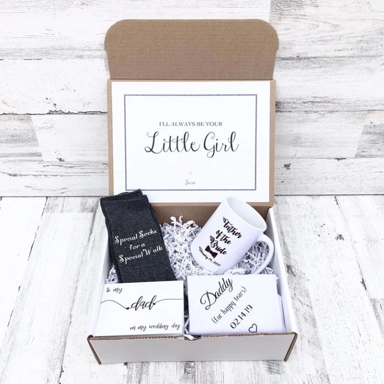 Father of Bride Gift Box Personalized Father of the Bride image 0