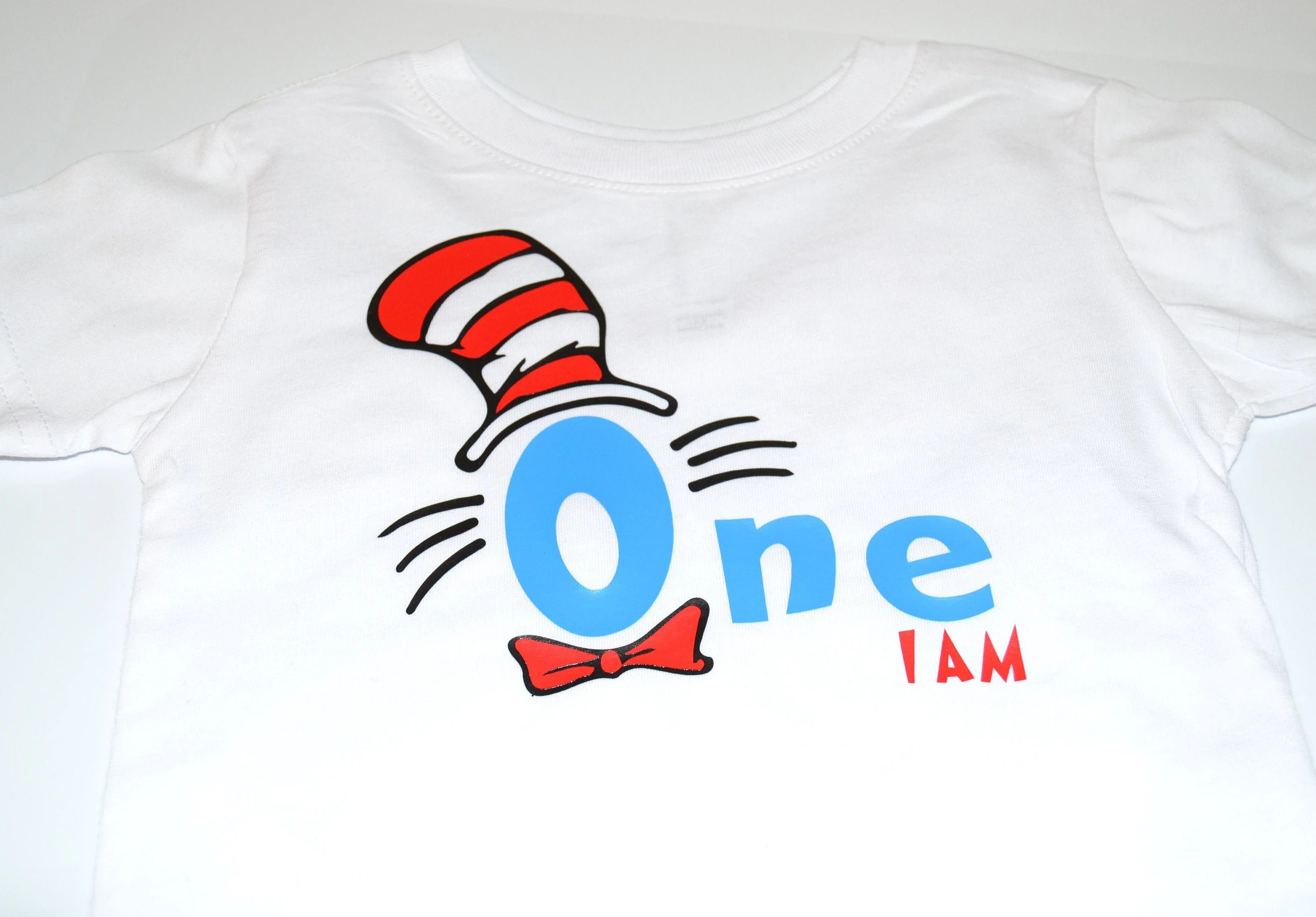 Cat In The Hat Dr Seuss First One I Am Shirt Or Any Birthday Etsy