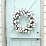 Cotton Wreath Farmhouse Decor Farmhouse Wreath Door Etsy