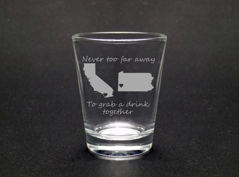 Best Friends Shot Glass  Best Friends Gift  Long Distance image 0