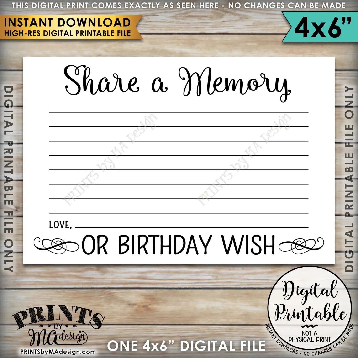 Share A Memory Or Birthday Wish Share A Memory Card Please