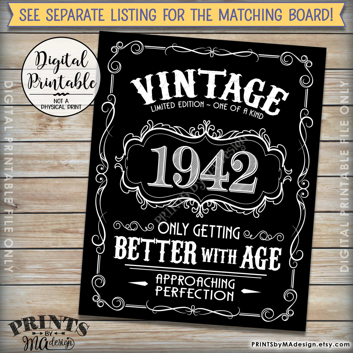 vintage birthday invitation aged to