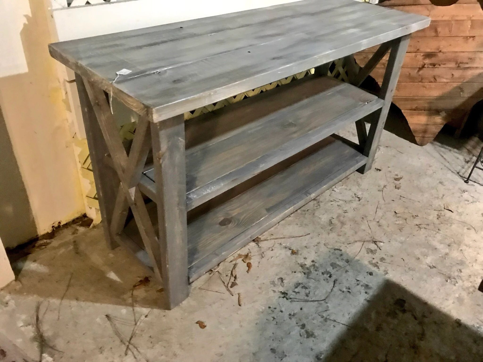 Rustic Wooden Buffet Table Rustic Console Table Farmhouse Buffet Table White Wash With Gray Base And White Wash Top