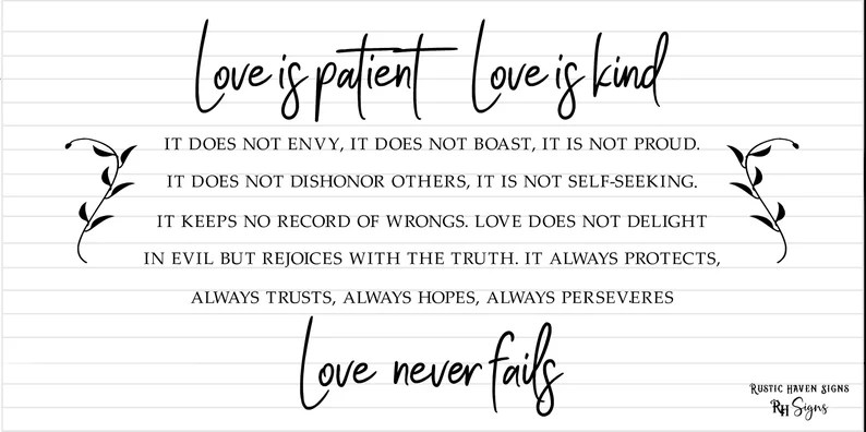 Download Svg Love Is Patient Love Is Kind INSP0170 Commercial   Etsy