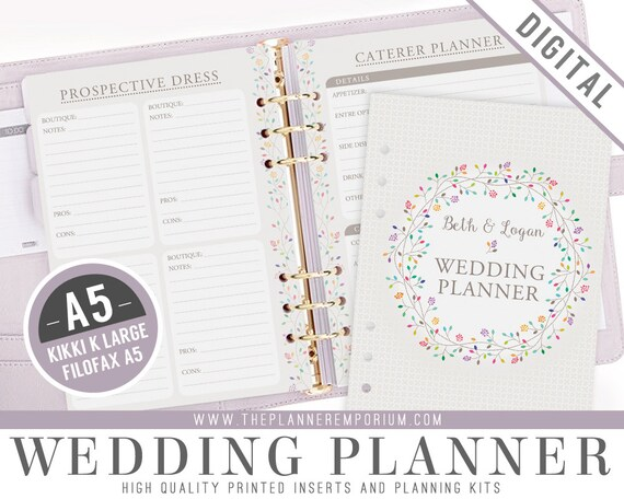 A5 Ultimate Wedding Planner Organizer Kit