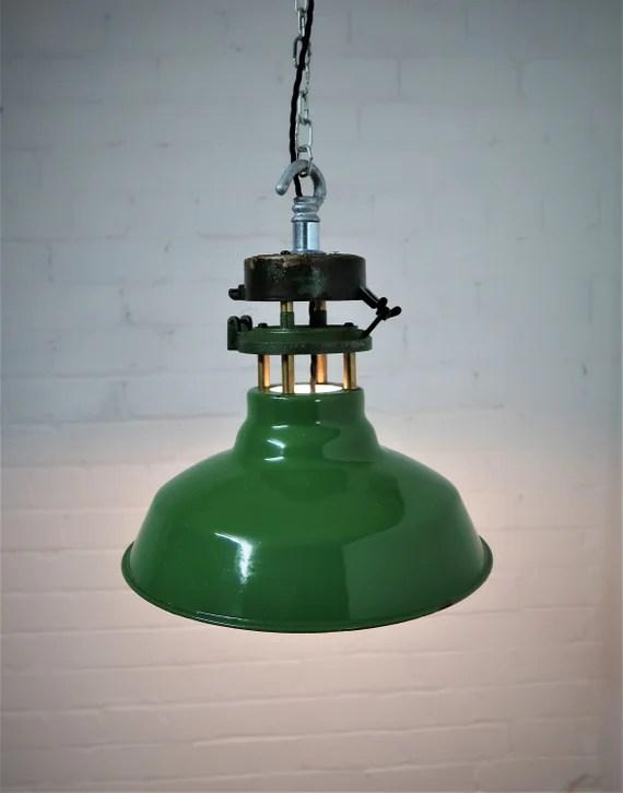 Industrial 1950 S Wardle Factory Original Lighting Vintage Etsy