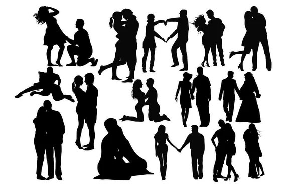 Download Romantic Couple svg Couples Silhouettes Lovers Silhouette ...