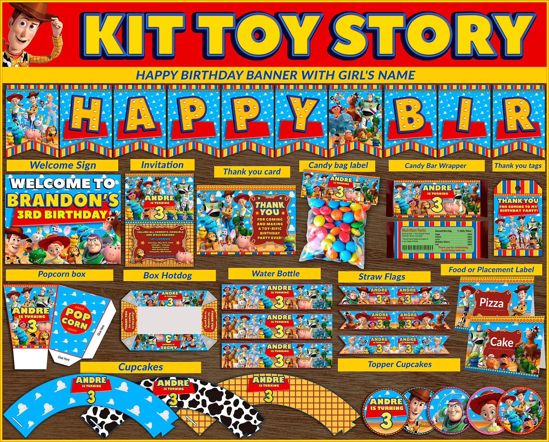 50 Off Toy Story 4 Printable Kit Toy Story Party Package