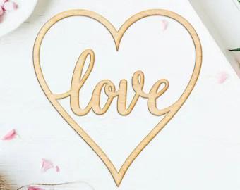 Download Love cursive heart | Etsy