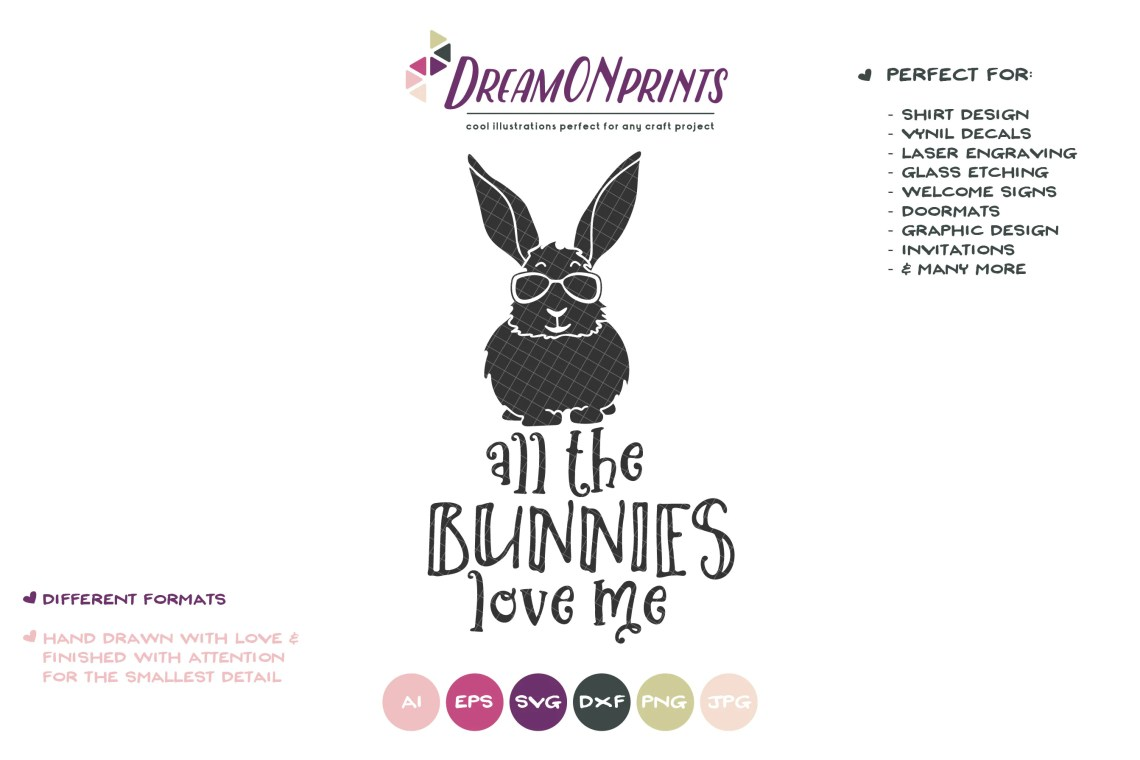 Download All the Bunnies Love Me VG, Easter Bunny Svg Funny Easter ...