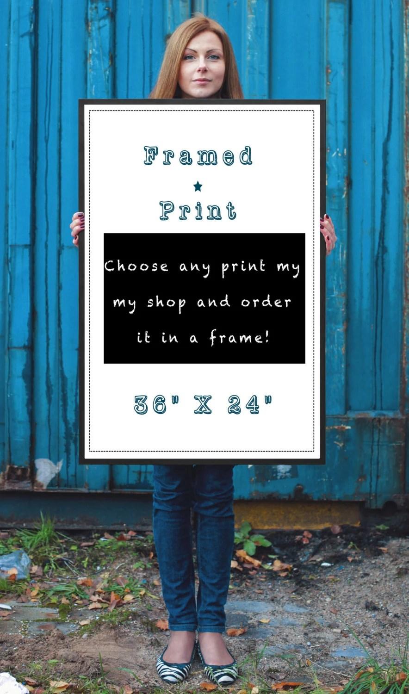 framed print framed poster frame upgrade 36 x 24 print