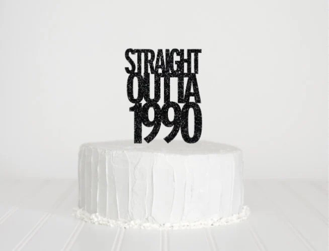 Straight Outta 1989 Dirty 30 Cake Topper 1988 Cake Topper 30th Birthday Decor Glitter Cake Topper 30th Birthday Cake Topper By Itsy Bitsy Paper Cuts Catch My Party