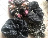 Vintage inspired scrunchies- 4 pack