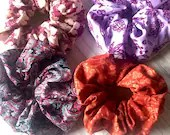 Fall colors scrunchies - 4 pack