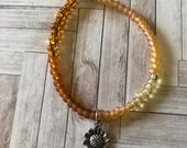 beaded sunflower bracelet