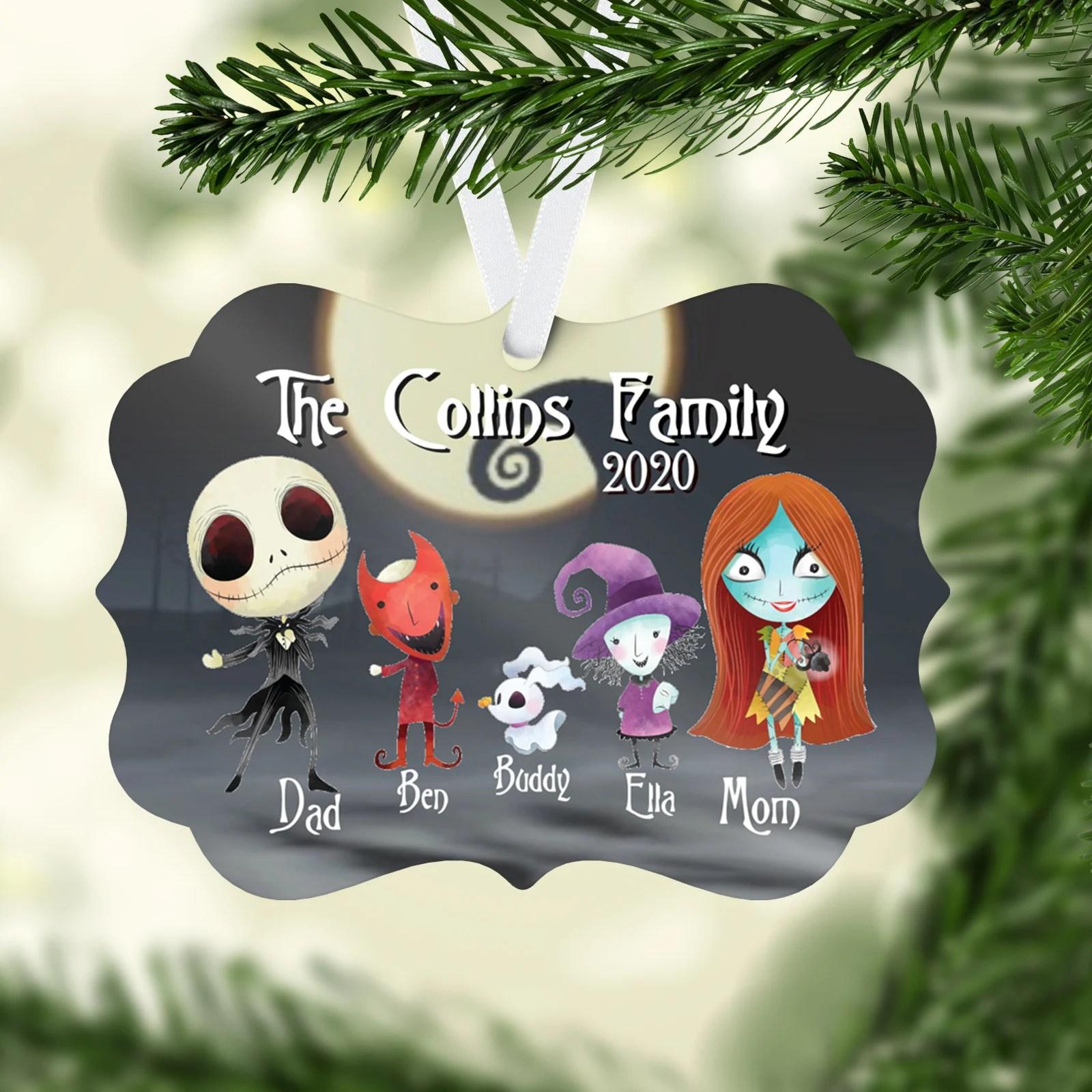 Nightmare Before Christmas Ornament Jack & Sally image 1