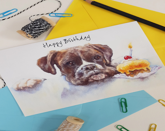 Boxer Dog Card Etsy