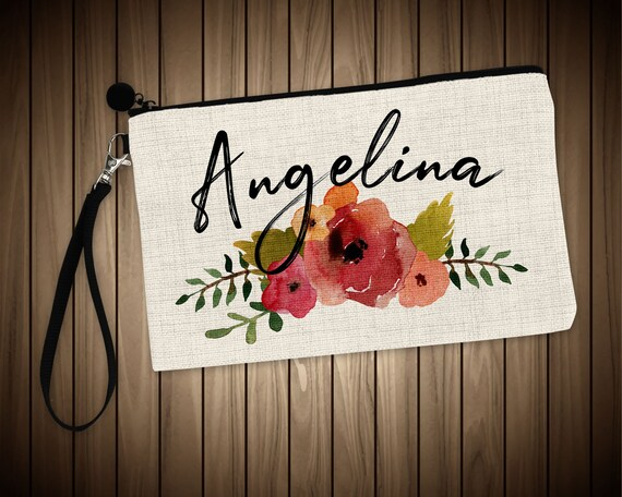 Personalized Name Makeup Bags Flower