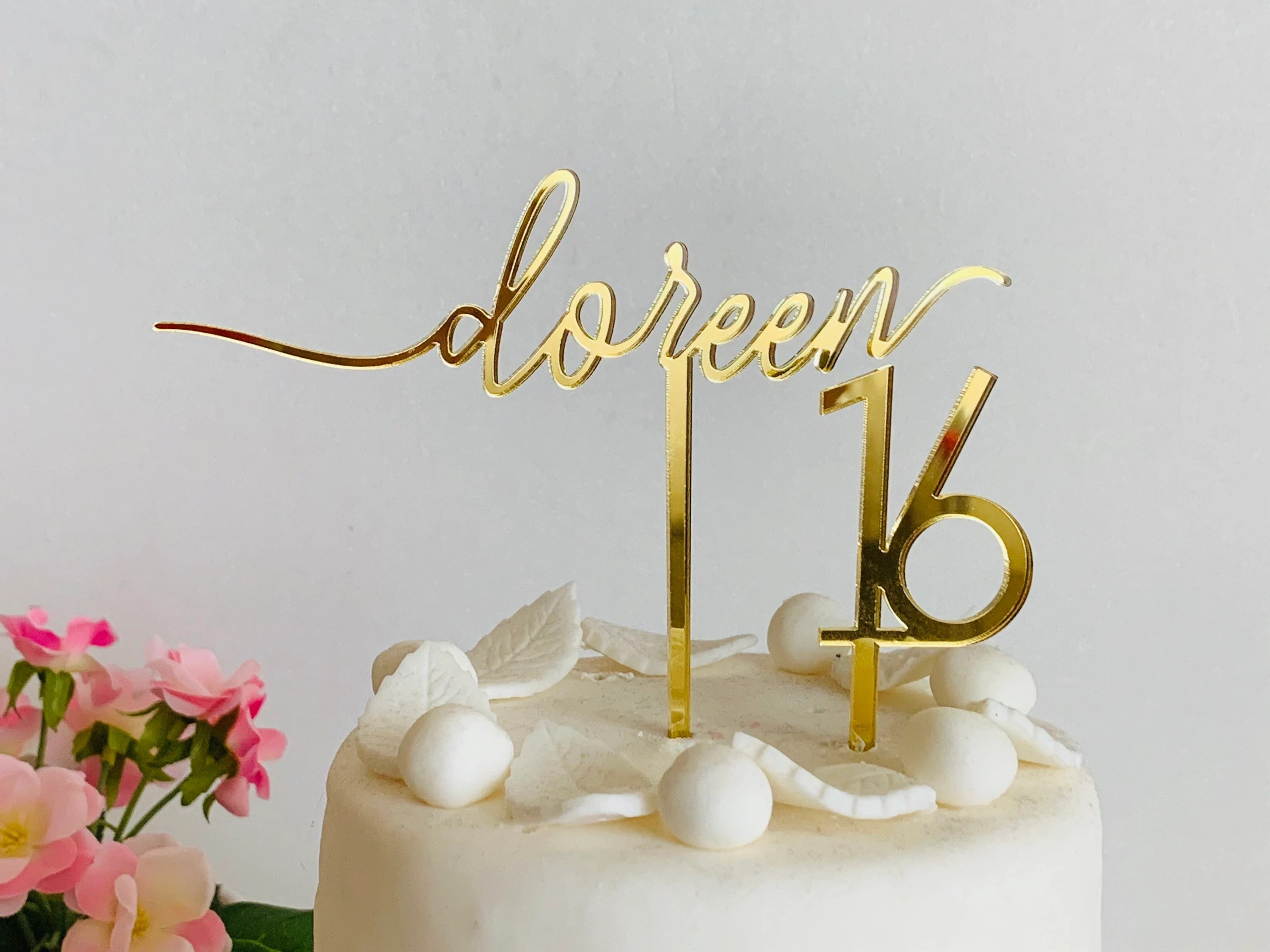 Personalized Cake Topper Custom Name Topper Any Age Cupcake Etsy