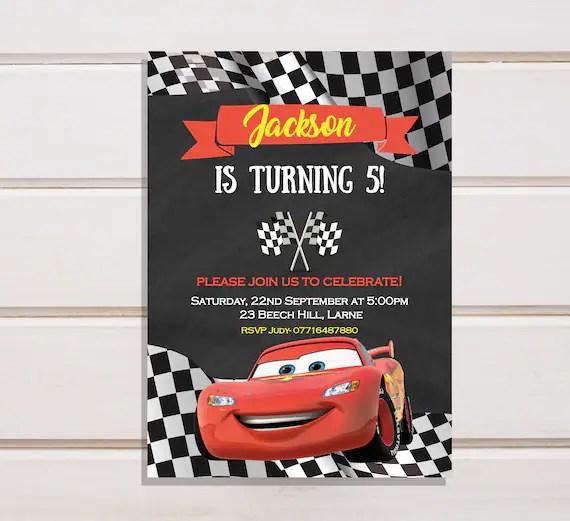 cars invitation cars birthday invitation disney cars birthday invites boy birthday invitation lightning mcqueen invitation mcqueen birthday