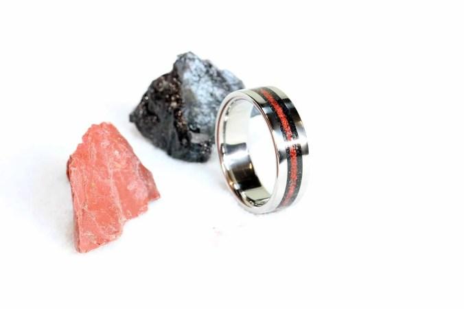 Titanium & Gem Stone Inla...