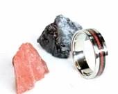 Titanium & Gem Stone Inlay Ring