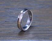 Titanium & Brass inlay Ring
